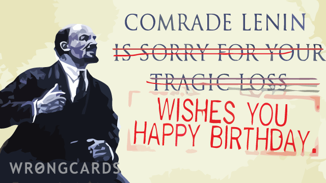 Ecard Text Comrade Lenin Wishes You Happy Birthday