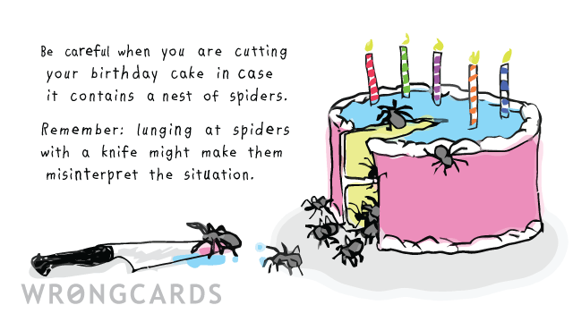Birthday Ecard Spiders Are Sensitive